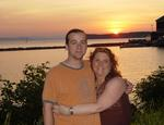 Greg and Tracy and the VT sunset